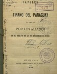 papeles del tirano del paraguay 1869