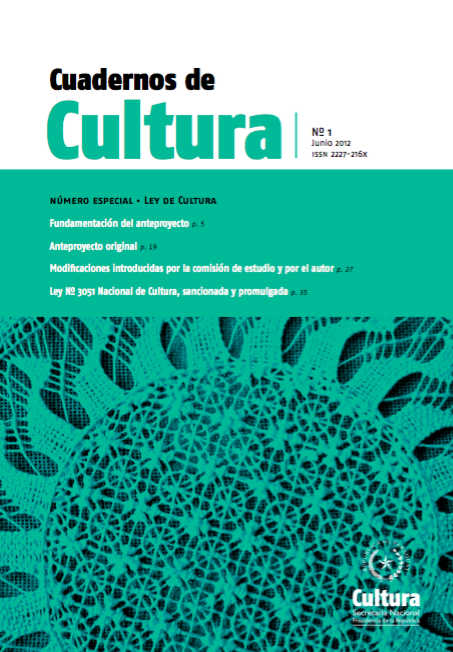 Cuadernos de Cultura Nro 1