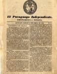 El Paraguayo Independiente 1845- n.1 n.2 n.3 imagen