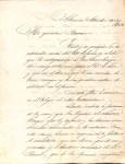 Carta de Lopez a Bareiro septiembre 1864