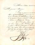 Carta de Francisco Solano López a Cándido Bareiro, Octubre 1864 imagen