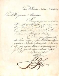 Carta de Lopez a Bareiro_Octubre de 1864