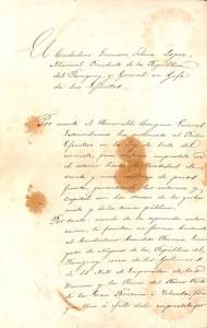 Documento oficial 15 de marzo de 1865