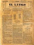El Látigo Agosto 1885-portada