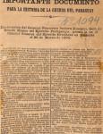 Importante Documento para la Historia de la Guerra del Paraguay imagen