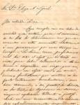Carta de Juan Crisóstomo Centurion a Elisa Alicia Lynch, Septiembre 1870 imagen